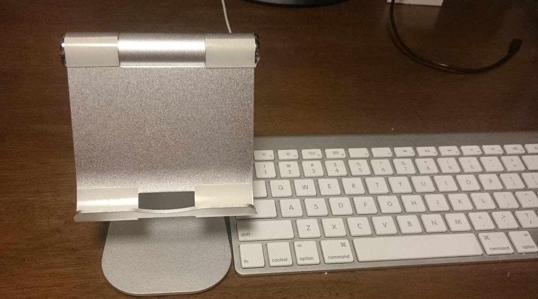 タブレットスタンドとApple Wireless Keyboard